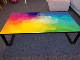 Funky glass coffee table
