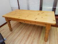 Large solid pine kitchen table