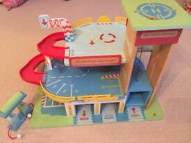 Hamleys wooden toy garage