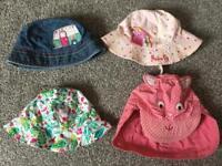 6 sun hats, Next denim, M&S Peppa Pig and Nutmeg cap, Debenhams and Boots Mini Club all cotton