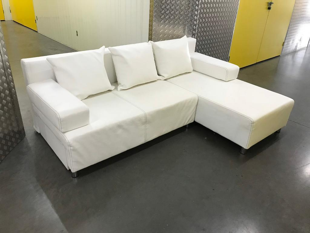 White L Shape Sofa Bed With Storage Free Delivery In Balham