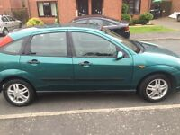 Green Ford Focus 1.6ltr good reliable family car