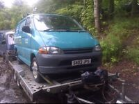 wanted toyota hiace vans, 2.4diesel/d4d, any age and condition
