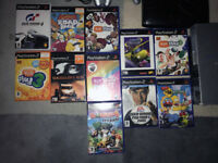 Playstation 2 with games and accessories