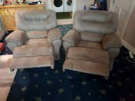 1x2 seater and 2 arm chairs