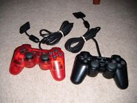 2x Sony Playstation PS2 analog controllers - excellent condition