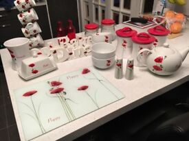 Red poppy collection from dunelm