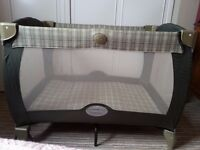 Graco folding travel cot