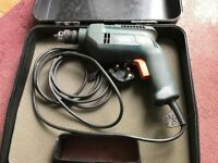 BLACK AND DECKER CORDED HAMMER DRILL KD400 400W with CASE