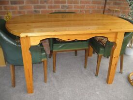 Handmade solid pine dining table