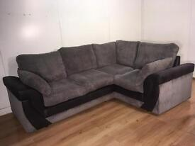 Beautiful Gray corner sofa with free delivery within 10 miles