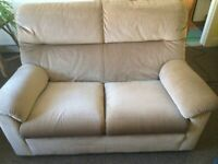 Two Seater Sofa Parker Knoll Beige/Brown/Neutral Colour Very Good Condition