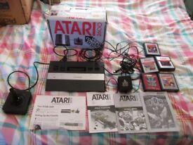 ATARI 2600 CONSOLE BOXED BUNDLE,5 GAMES MARIO BROS