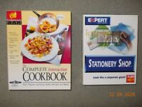 Interactive Cookbook and Stationery Shop PC CD Rom