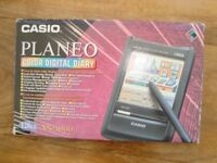 Rare Working Casio Planeo Colour Touch Screen Digital Diary - 1990's model NX 4000 128KB