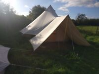Bell Tent - 5m, used, in excellent condition (includes a pro porch awning connector)