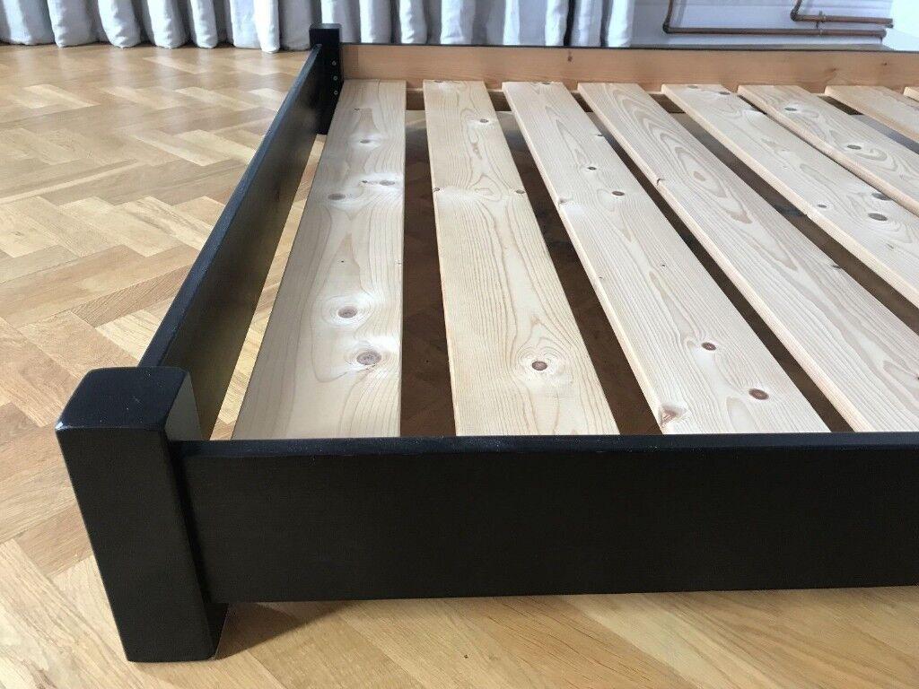 Warren Evans Single Bed Frame Black Solid Wood In New Malden