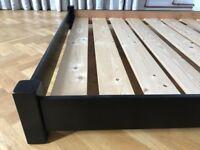Warren Evans Single Bed Frame - black solid wood