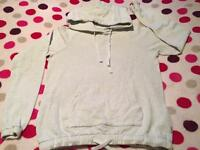 Ladies jack Wills soft hooded jumper size 8