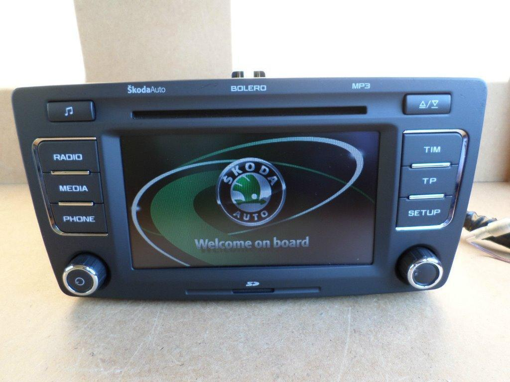 skoda octavia superb bolero radio stereo cd mp3 6 disc. Black Bedroom Furniture Sets. Home Design Ideas