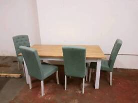 Table x4 chairs real oak great condition RRP £1200