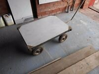 Heavyweight trolley for business. Suit shop floor/building site