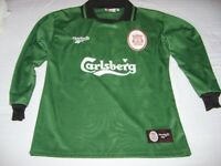 e59f5fca1 Vintage Retro Liverpool Football Club LFC 96-98 season goalkeeper jersey  shirt