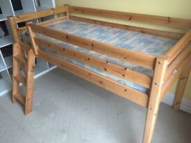 Cabin bed with cupboard
