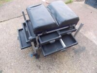 Tackle box with folding trolley barrow grab a bargain only £50
