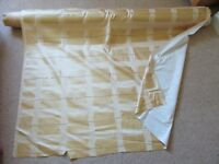 Curtain fabric roll, approx 35 metres, 54 inches wide.