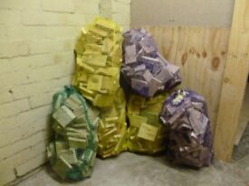 Bags of off cuts wood. £2.50 each or 5 for £10 good for fires ,chimeneas/firewood