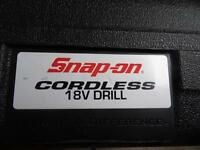 Snap On Cordless Drill 18V High Output Not Makita DeWalt Black and Decker or Bosh