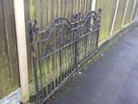 stunning set of reclaimed victorian entrance gates / period driveway gates £285