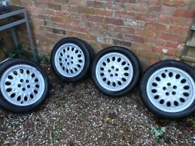 Alfa Romeo GTV phase one alloys in vgc with part used but legal tyres
