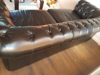 Leather chesterfield large 2 seater