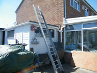 Pair of aluminium Ladders. Used but not abused.