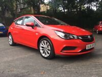 2016 66 VAUXHALL ASTRA DESIGN 1.4 TURBO PETROL 5 DOOR HATCHBACK IN STUNNING RED