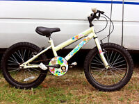 """GIRLS 18"""" WHEEL BIKE IN GOOD COND JUST BEEN SERVICED AND SAFETY CHECKED"""