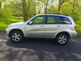 2002 automatic Toyota RAV4 2 litre petrol with full service history in excellent condition
