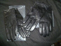 Job lot of Mens & Womens Black leather Cashmere lined gloves Size M Brand New Rrp £400