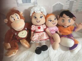 Haven soft toys- 2 x Polly , 1 x Greedy and 1 x Ned
