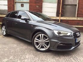 Audi A3 2.0 TDI S Line Sportback 5dr FULL SERVICE HISTORY+TOP SPEC RING FOR MORE INFO 07735447270