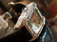 CARTIER SANTOS 100 XL ! ULTIMATE SWAROVSKI EDITION !