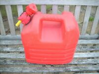 20 Litre plastic petrol can with spout - never been used