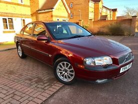 VOLVO S80 2.4 2001 64K LOW MILES FULL LEATHER FULL SERVICE HISTORY CAMBELT BEEN CHANGED AT 52K