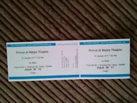 GO WEST Tickets Prince of Wales theartre Cannock 20 th January 7 30 start cost 50.00