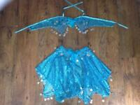 GIRLS BLUE SPARKLY COSTUME