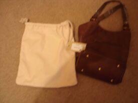 Ladies Matador Nues lined brown leather handbag