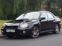 SUBARU IMPERZA WRX 2,0 TURBO BLACK LADY OWNED FULL SERVICE HISTORY LEATHERS MINT CONDITION MAY P/X