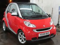 2009 Smart Fortwo Coupe 999cc Pulse MHD Auto P/X 12 Months RAC Warranty Included